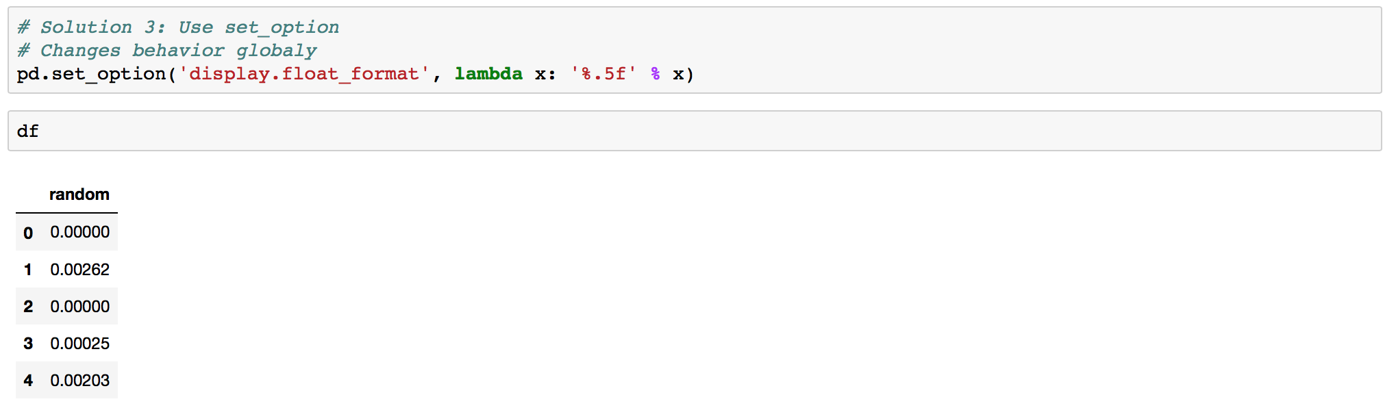 How to suppress scientific notation in Pandas